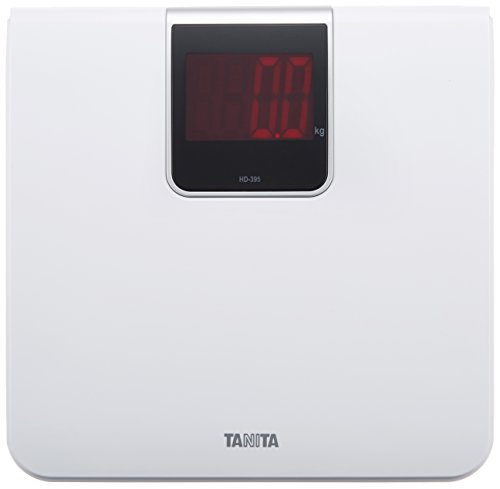 Tanita Scales digital Large-Screen LED White HD-395 WH Ride only at Power-on