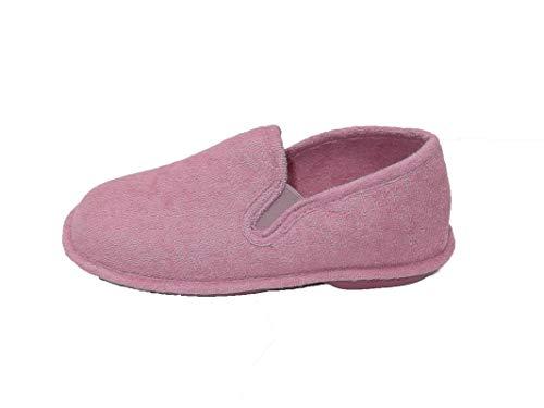 Zapatillas de Estar por casa/Mujer/Biorelax/Primavera-Verano/Talón Cerrado/Algodón Rizo/Suela: Goma/Talón Acolchado/Color Malva/Talla 39