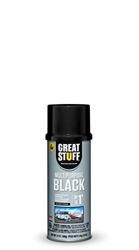 Great Stuff 99054816 Multipurpose Insulating Foam Sealant, 12 oz, Black