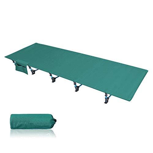 UCYG Cómoda Cama Plegable Camping Individual, Cama Plegable Niños 1 Plazas Armadura de Metal, Carga Máx 150 kg, 190x70x17cm (Color : Green)