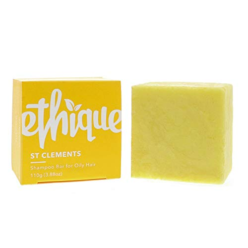 Ethique Eco-Friendly Solid Shampoo Bar for Oily Hair, St. Clements - Sustainable Natural Shampoo with Lime Oil, Plastic Free, pH Balanced, Vegan, Plant Based, 100% Compostable and Zero Waste, 3.88oz