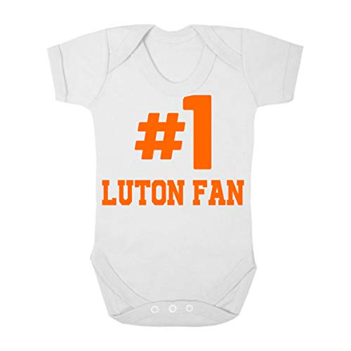 Rochdale Hashtag #1 Number One Football Fan Baby Grow Vest Boy Girl Gift Short Sleeve Baby Grow Romper