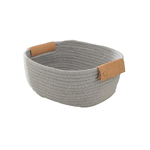 Ropa tejida a mano cesta de lavandería ropa cubo de almacenamiento juguetes contenedor cosméticos artículos titular mano tejido cesta de lavandería