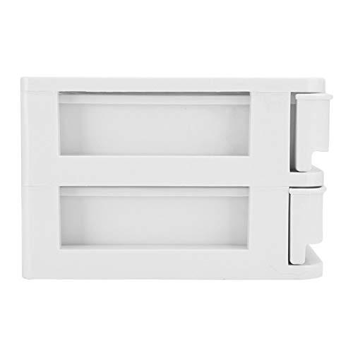 Resistente al agua y al polvo, fácil organizador, caja organizadora de escritorio, caja organizadora, caja de almacenamiento, color blanco, 2 tipos a elegir, 2 capas, decoración
