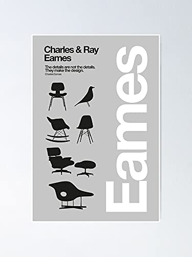 AZSTEEL Eames Chairs Collections Poster Best Gift for Mothers Day