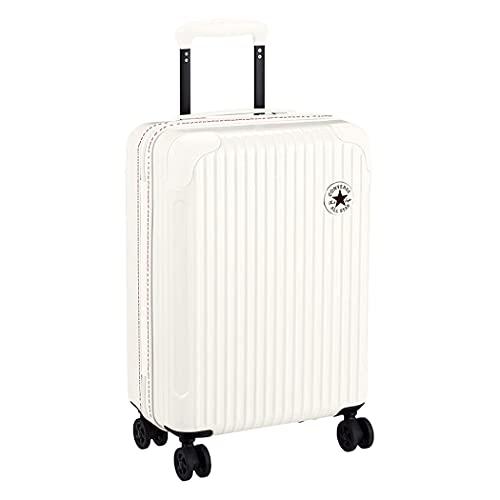 CONVERSE コンバース スーツケース キャリーケース 機内持ち込み可 ジッパータイプ 軽量 4輪キャスター 静音キャスター カジュアル ビジネス 出張 旅行 修学旅行 1泊~2泊 32L メンズ レディース 男女兼用 1602 (ホワイト)