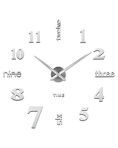 Orologio da Parete Fai-Da-Te, Facile da Montare, Design Moderno, Usato per Decorare La Parete Vuota, Come casa, Ufficio, Hotel