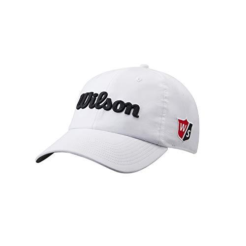Wilson Niños Gorra de golf, PRO TOUR J, Poliéster, Blanco/Negro, Talla Niños/Jóvenes, WGH7000151