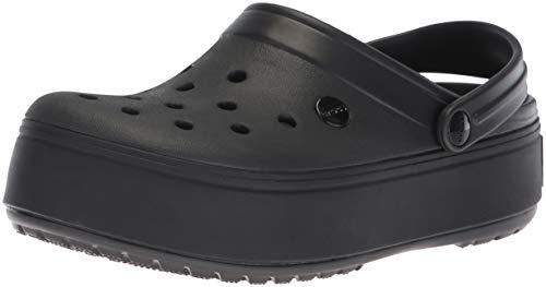 Crocs Crocband Platform Clog, Zueco. Unisex Adulto, Negro, 38.5/39 EU