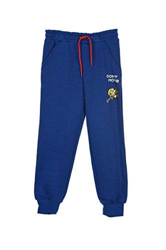 Minions - Jungen Sporthose Hose Kinder Jogginghose blau Größe 128