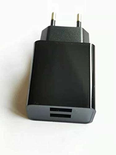 AptoFun 2 puertos 5 V 2 A Micro USB Cargador para Arduino UNO, Nano Raspberry Pi 4 y Smart Phone, iPhone, Huawei, Samsung en negro