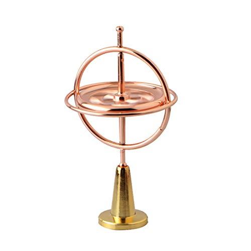 JELINDA - Giroscopio de precisión de Metal Anti Gravedad, Juguete de Equilibrio Superior (Oro Rosa)
