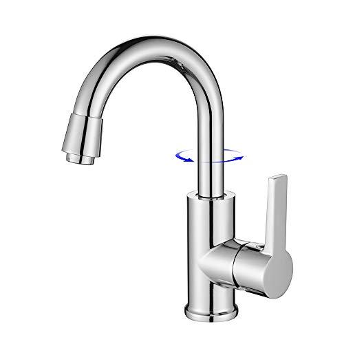 HOMELODY Wasserhahn Bad Armatur 360° Drehbare Küchenarmatur Waschtischarmatur Waschbeckenamatur Badarmatur Mischbatterie für Küche oder Bad Einhebelmischer Spültischarmatur mit Hohem Auslauf