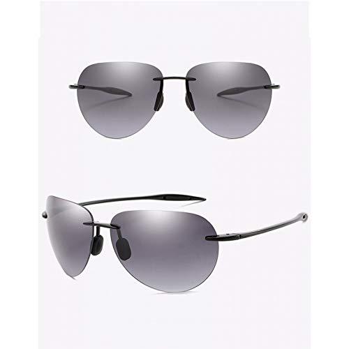 SXRAI Gafas de Sol ultraligeras sin Montura para Hombre, Gafas de Sol para Conducir, protección UV Masculina,C3