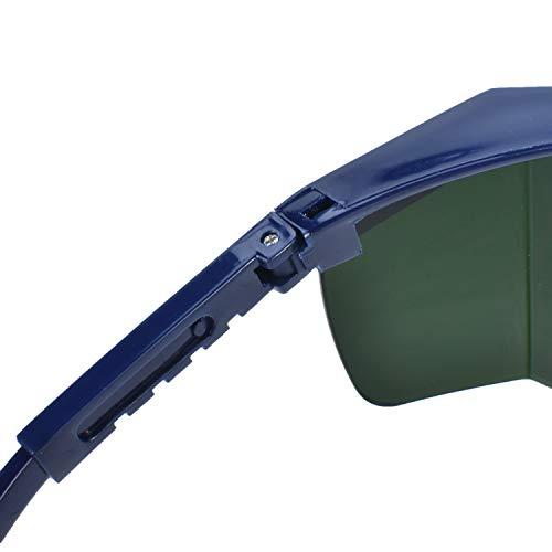 Mufly Schweißerbrille Schweißer Sicherheitsbrillen,klappbar,Anti-Flog,Anti-Shock,Blendschutz,Schutzgläser für Schweißer mit transparenter und schwarzer Brille(IR5.0) - 5