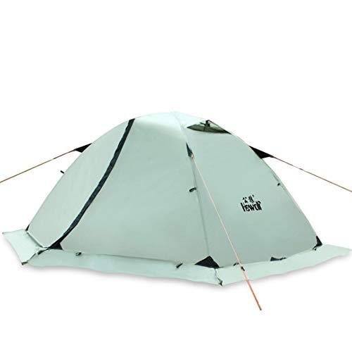 SHU Extérieur Double Double Couche Montagne de Neige Sauvage équipement de Camping de Plusieurs Personnes Tente Jupe Pare-Neige Ultra-léger