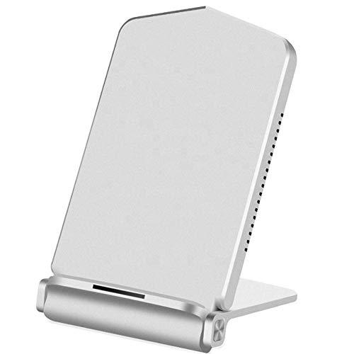 Bias&Belief Carga Rápida Inalámbrica, Cargador de Inducción Qi, Cargador Inalámbrico Plegable de 15 W con Función de Reconocimiento Inteligente, Adecuado para iPhone 8/XR/XS