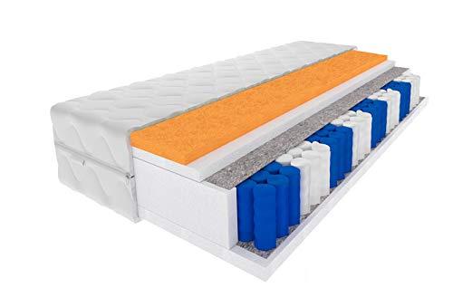 TOMPOL 7-Zonen-Taschenfederkernmatratze Hercules mit elastischem Polyurethanschaum  ...