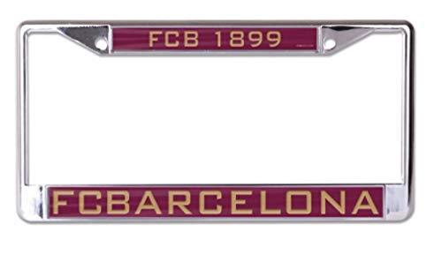 WinCraft FCB Barcelona 6x12 inch Inlaid Acrylic Metal License Plate Frame