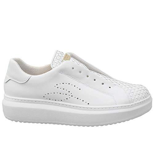 Tosca Blu Sneaker Slip-on Agata Bianca in Pelle Intrecciata - SS2101S004 S35 - Taglia 38