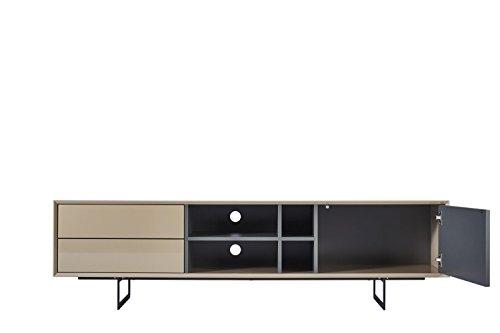 TV-Schrank TITRAN modernes TV-Lowboard in Taupe Beige hochglanz & anthrazit grau matt, mal kein weiß oder schwarz, 180 x 42 x 50 , Fernsehschrank inkl Lieferung und Montage! - 4