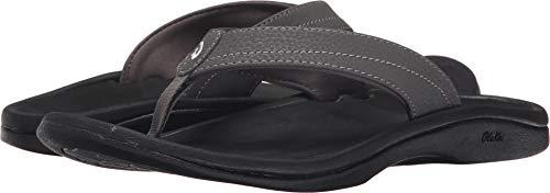 OLUKAI Women's Ohana Sandal, Basalt/Grey, 8 M US