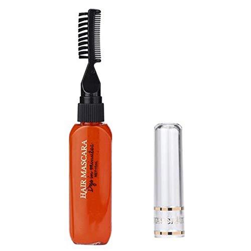manda Stell Haarfarbe für Damen, temporäre Haarfarbe zum Selbermachen, Mascara, Cosplay, 0, Orange