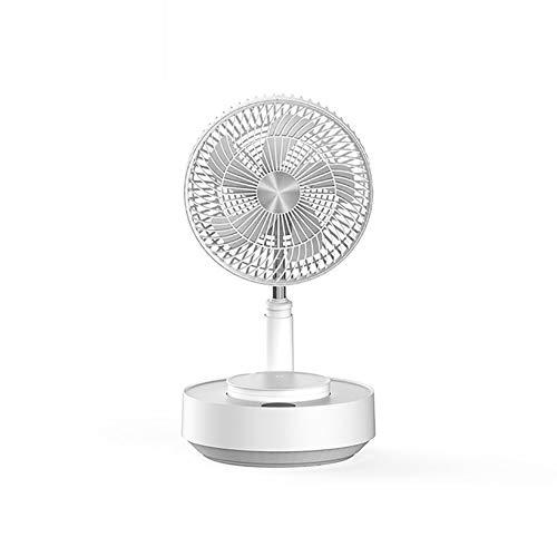 ZZFF Ventilador Mini Stand Portátil,Creativa Tipo-c Recargable Plegable Telescópica Ventilador con Spray,Ajustable Altura Ventilador De Escritorio De Refrigeración Blanco 25.2x25.2x14cm(10x10x6inch)