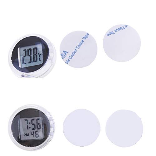 Reloj digital + medidor de temperatura impermeable accesorio scooter moto