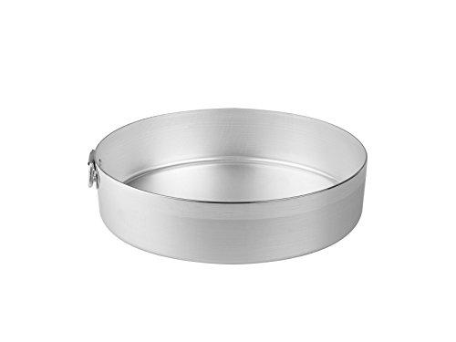 Pentole Agnelli Tortiera Cilindrica con Anello, Aluminio, Argento, 22 cm
