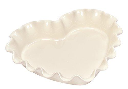 Emile Henry EH026177 - Molde para repostería (cerámica, 32,5 x 28 x 6 cm), diseño de corazón