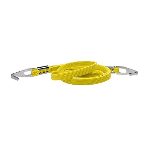 Porte-bagage Vélo Solide Sangle Corde élastique Tensions Fortes avec Crochets Inox Fixation Serrages Blocages Bagages Rapide - Jaune