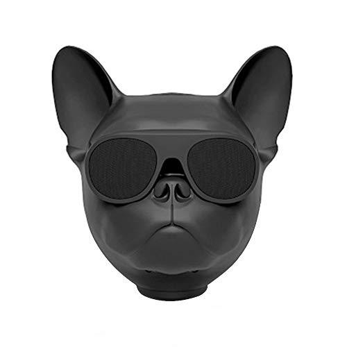 cff Bluetooth Box Bulldog Lautsprecher Karikatur Bulldog Speaker Französische Bulldogge Lautsprecher mit USB und Radio Unterstützende TF-Karte Perfekt für Zuhause, Camping