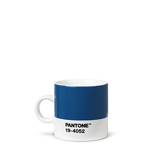 Pantone 18467 - Taza de café (porcelana, 120 ml), color azul
