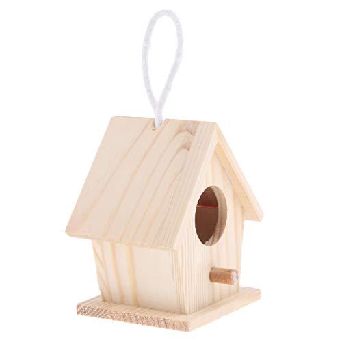perfk Kleine Nistkasten Nisthaus Vogelhäuschen für Vogelkäfig Haus Zimmer Dekoration - Typ 3