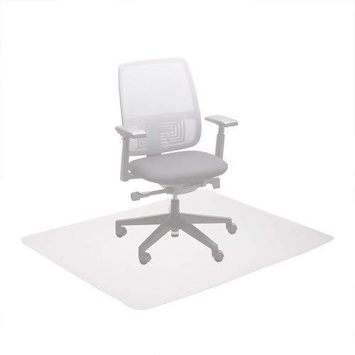 Relaxdays Bürostuhlunterlage 120x150 cm, kratzfeste PE Bodenschutzmatte, schalldämmende Unterlegmatte f. Büro, weiß