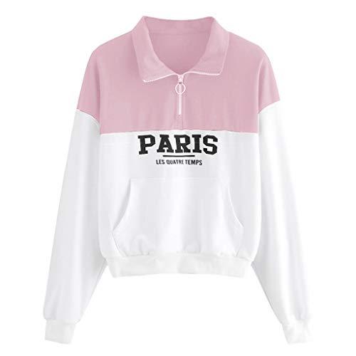 Find Bargain Hoodies for Women,Women Letter Print Zipper Jumper Pocket Long Sleeve Sweatshirt Pullov...