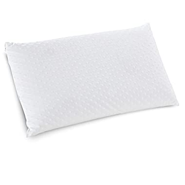 Classic Brands Embrace Firm Ventilated Latex Foam Pillow with Velour Cover, Queen