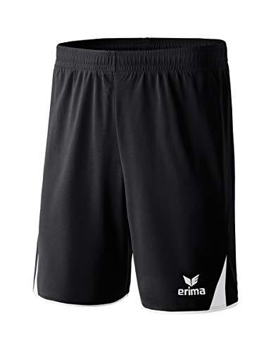 Erima Herren Classic 5-C 615308 Shorts, schwarz/weiß, M