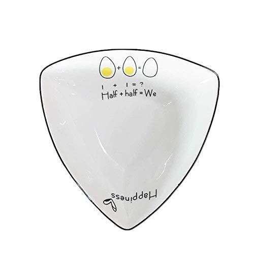 COOLSHOPY el Norte de Europa Vajilla de cerámica Creativa nórdica Snack-Bol Pequeño Cuenco Cuenco Plato de Arroz del Cuenco del Amor Ensaladera al Vapor Huevo Tazón 6 Pulgadas