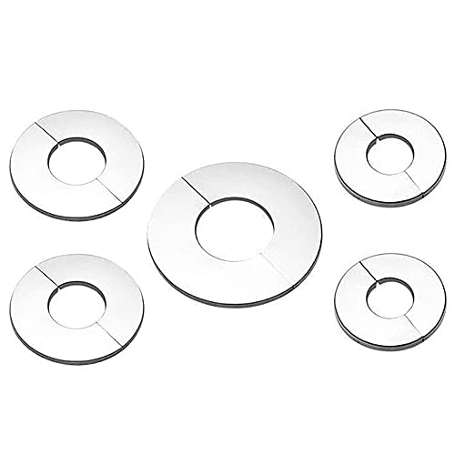 GerTong 5 pezzi in acciaio inox valvola di copertura del rubinetto, coperchio valvola rubinetto coperchio coperchio rubinetto tappo tappo tappo tappo tappo tappo per lavello cucina bagno