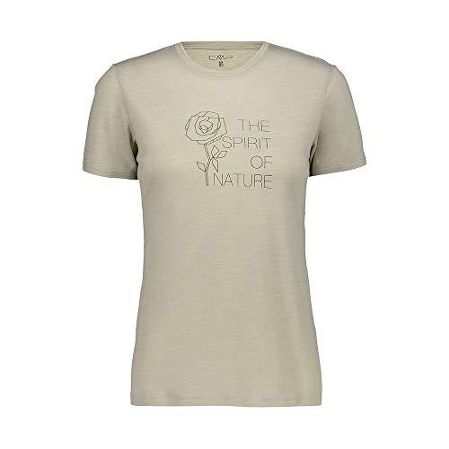 CMP T-Shirt Merinos Jersey, Donna, Arena, 48