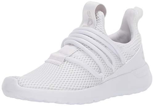 adidas unisex child Lite Racer Adapt 3.0 Running Shoe, White/White/Grey, 13 Little Kid US