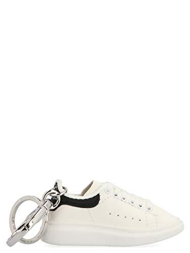 Alexander McQueen Luxury Fashion Herren 609203H640N9074 Weiss Leder Schlüsselanhänger | Herbst Winter 20