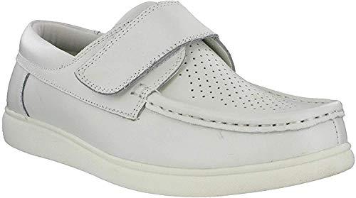 Dek - Schuhe mit Klettverschluss - Unisex, Herren, bianco, 45 EU