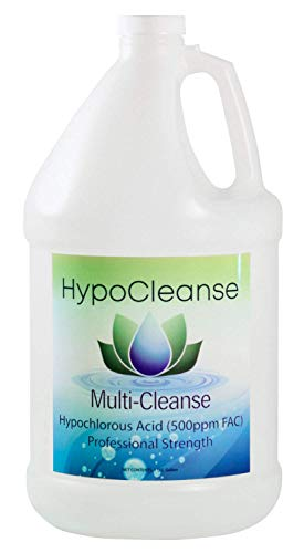 Hospital Grade 500 ppm Hypochlorous Acid HOCl For Dental and Medical (1 Gallon). Safe For Foggers