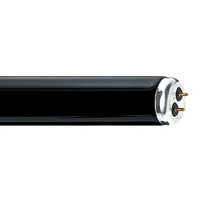 GE 10531 40 Watt 48 Inch T12 Linear Fluorescent Medium Bipin (G13) Base BlackLight Blue Tube (F40BLB)- 6 Pack