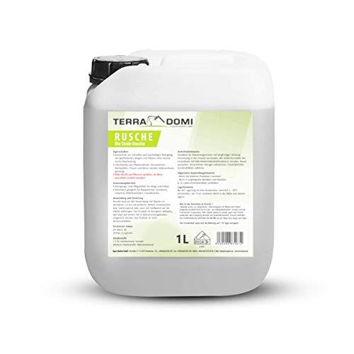 Terra Domi Rusche die Steindusche, 1 L, Steinreiniger für bis zu 400 m², Reinigungsmittel für saubere Wege & Plätze, Wegerein, biologisch abbaubar