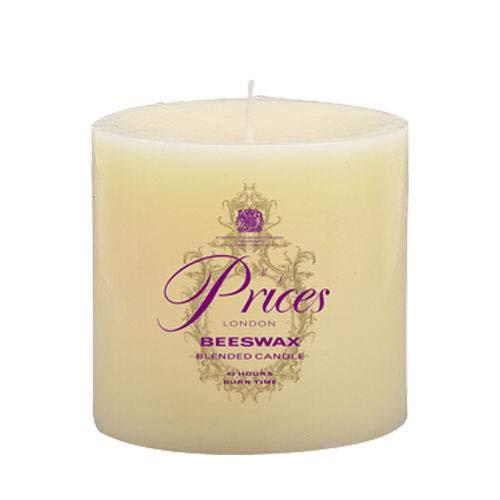 Price's Candles ATP030616 Beeswax Round Pillar 100x100, Ivory, l w x 10cm h