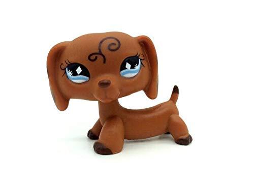 WooMax LPS Jouet Littest Pet Shop Brun Teckel Chien Chien Diamant Yeux Collection Animale Jouets pour Enfants Anniversaire Cadeau De No?l